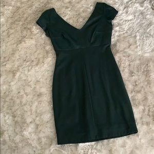 Green dress (some leather)